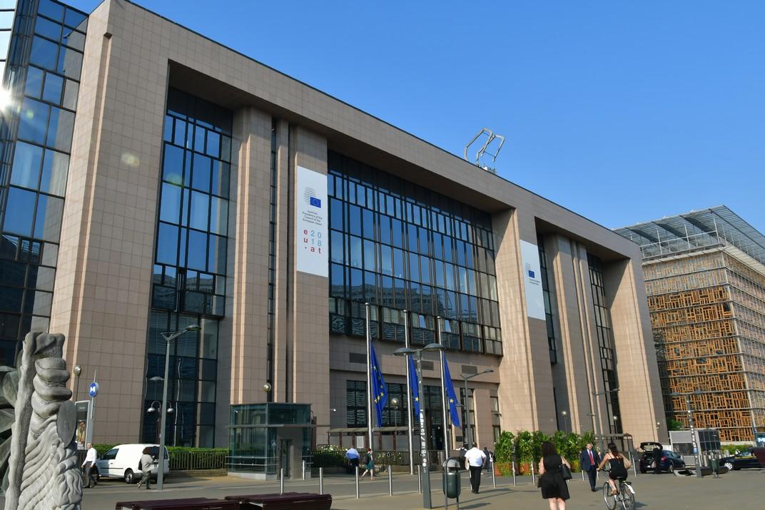 Edifici Justus Lipsius del Consell de l'Unió Europea de Brussel·les