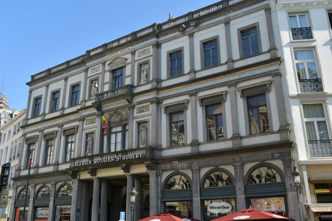 Entrada de les Galeries Reials Sant Hubert de Brussel·les