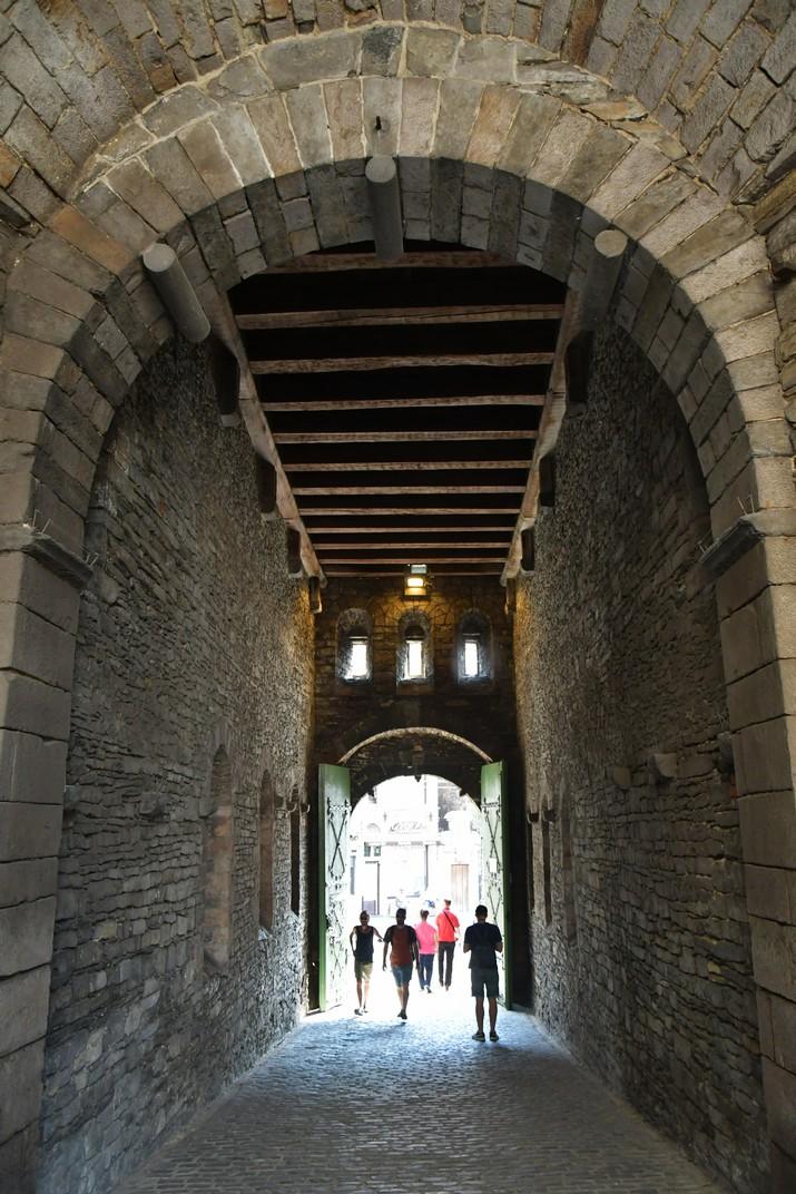 Entrada del Castell dels Comtes de Gant