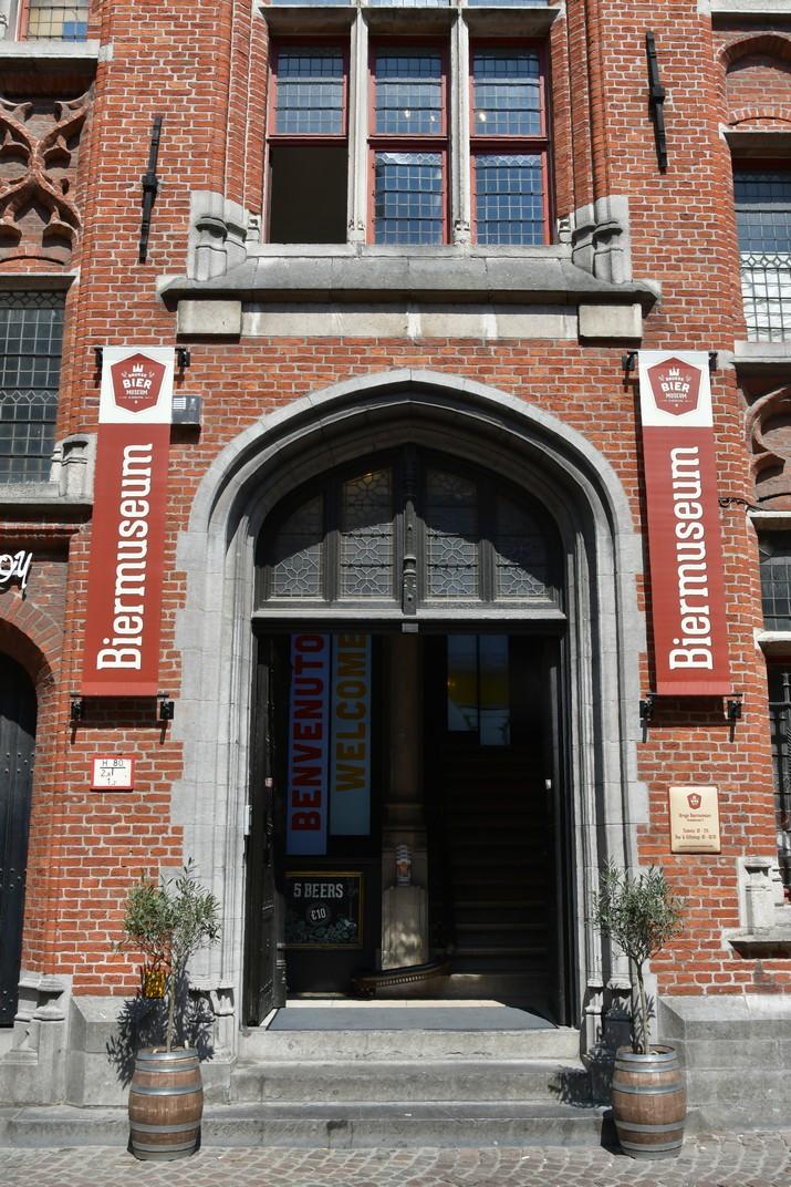 Entrada del Museu de la Cervesa de Bruges