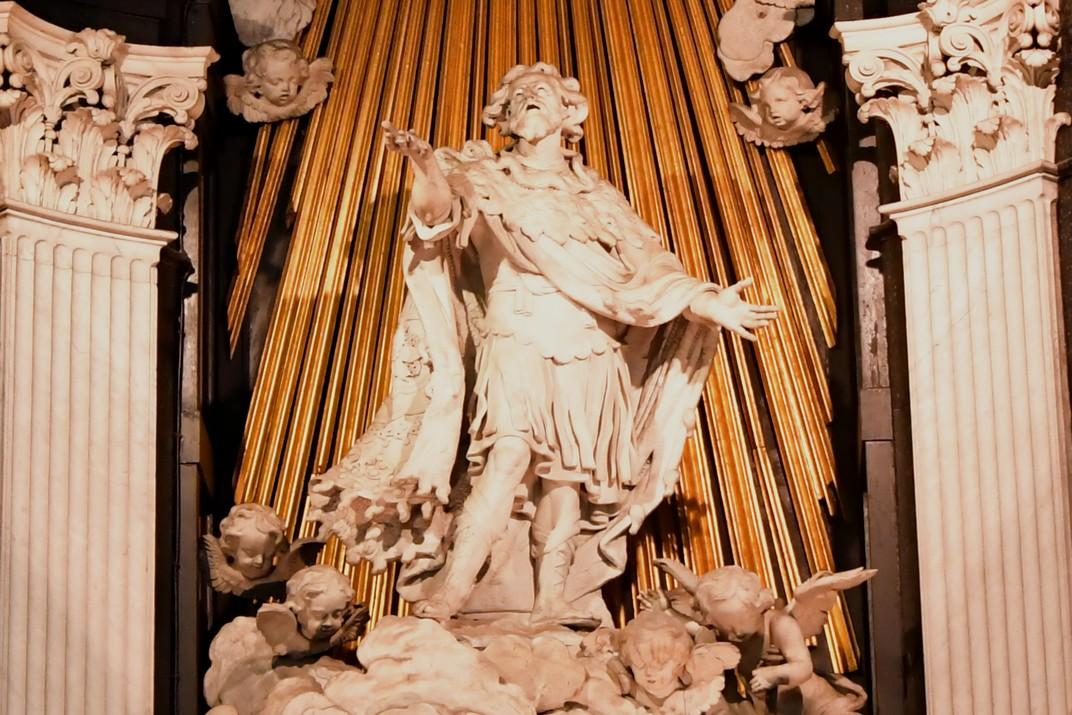 Escultura del Sant de la Catedral de Sant Bavó de Gant