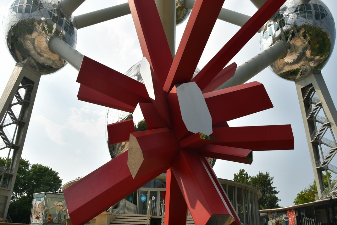 Escultura RockGrowth de l'Atomium de Brussel·les
