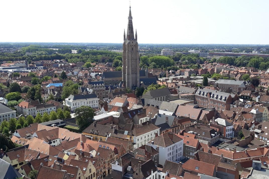 Església de Nostra Senyora des del Campanar de Bruges