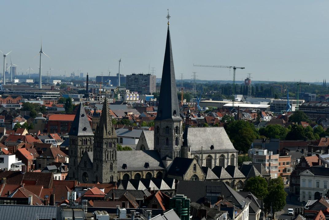 Església de Sant Jaume des del Campanar de Gant