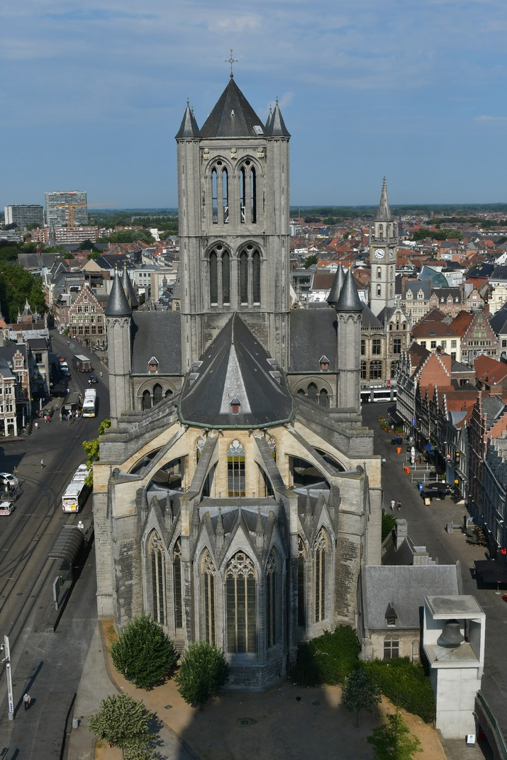 Església de Sant Nicolau des del Campanar de Gant