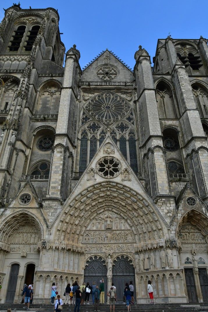 Façana occidental de la Catedral de Bourges