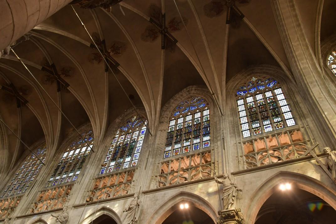 Finestres de l'església de Nostra Senyora de les Victòries del Sablon de Brussel·les