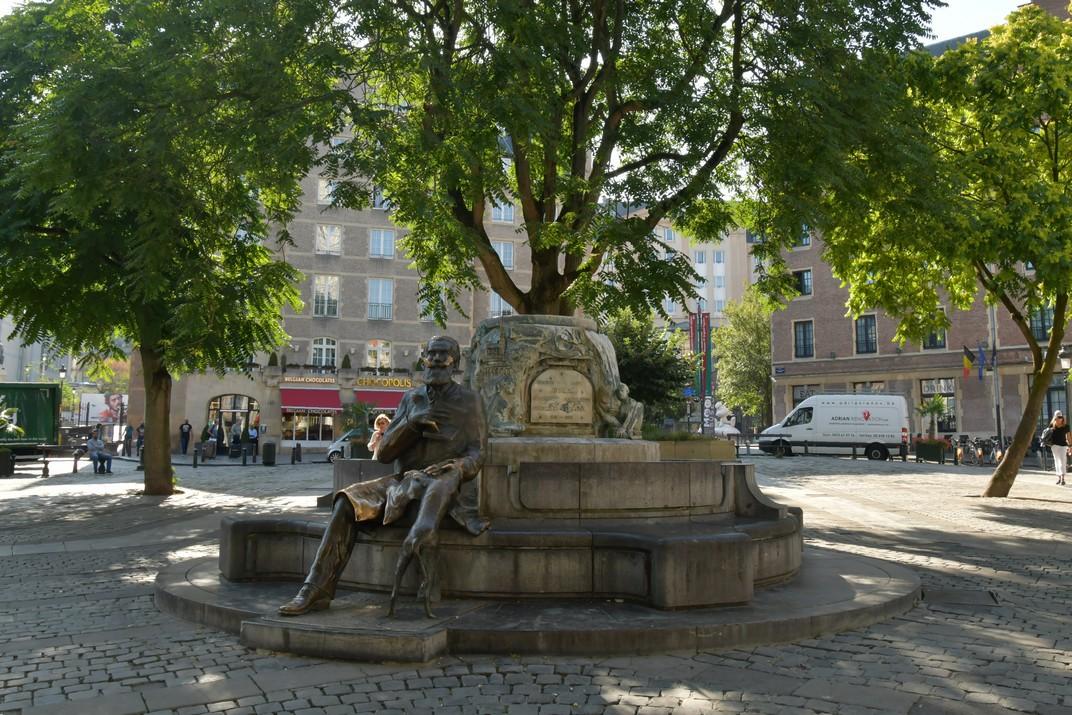 Font de Charles Buls de la Plaça Àgora de Brussel·les