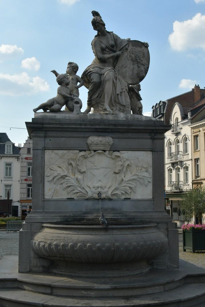 Font de Minerva del barri del Sablon de Brussel·les