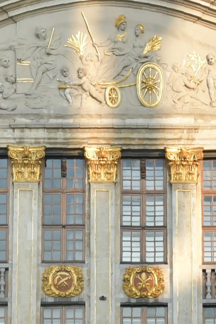 Frontó de la Casa dels Ducs de Brabant de Brussel·les