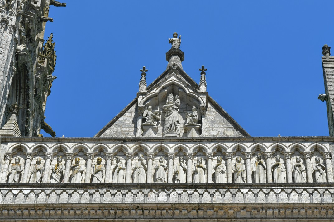 Galeria de Reis de la façana oest de la Catedral de Chartres