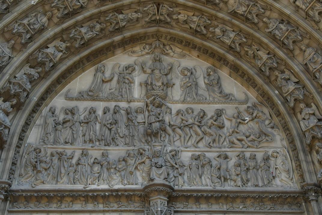 Judici final del pòrtic de la façana principal de la Catedral de Nostra Senyora d'Anvers