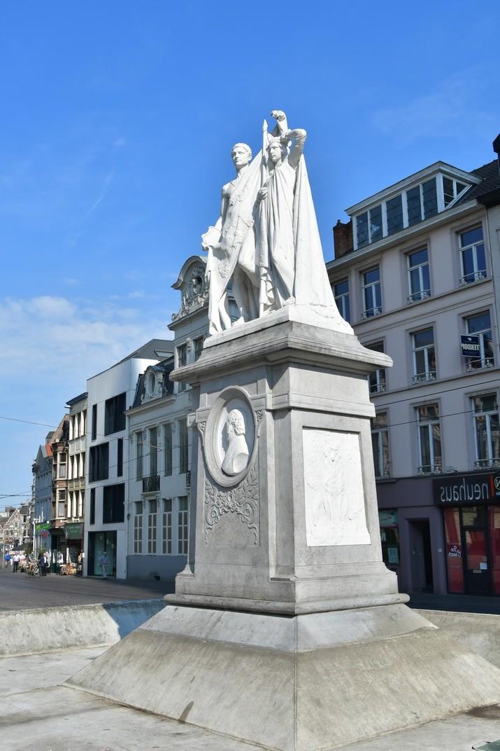 Monument a Willems de la plaça de Sant Bavó de Gant