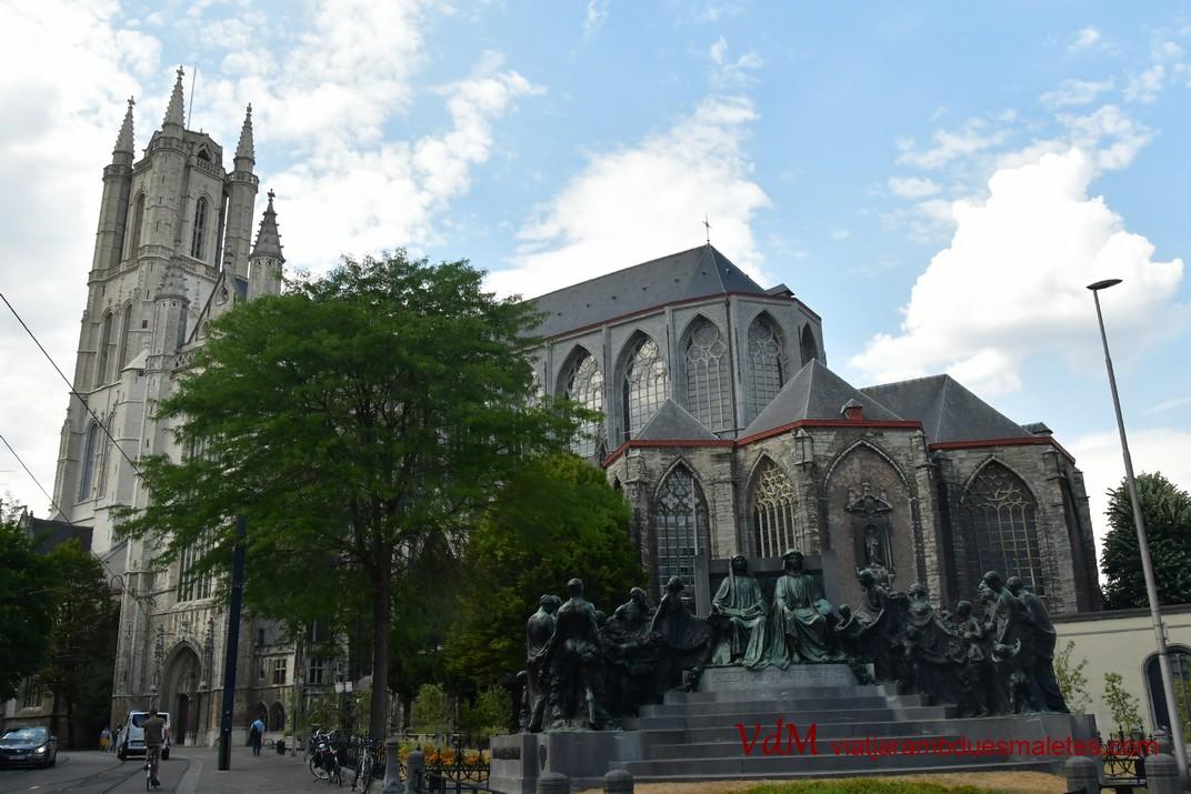 Monument dels germans Van Eyck de la Catedral de Sant Bavó de Gant