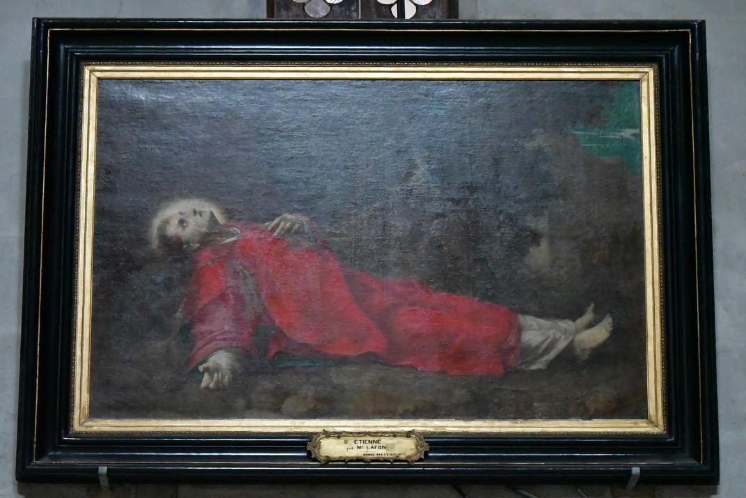 Pintura de sant Esteve de la Catedral de Bourges