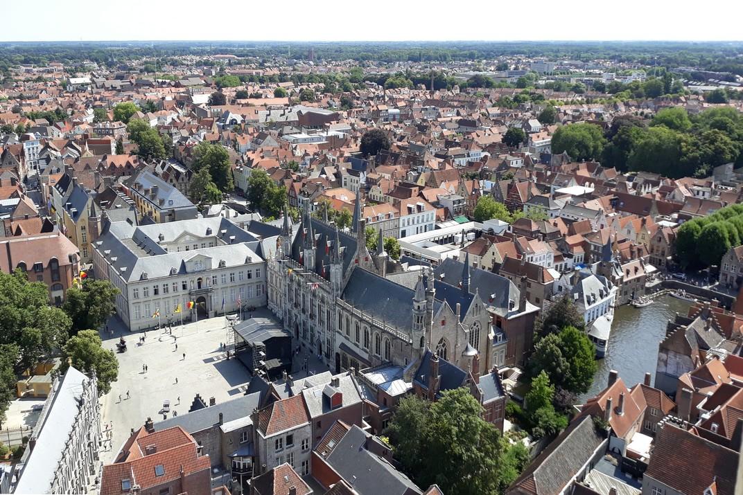 Plaça del Burg des del Campanar de Bruges