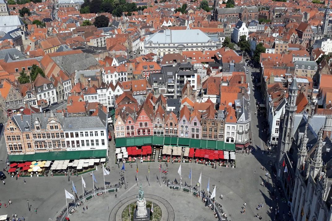 Plaça del Mercat Gran des del Campanar de Bruges