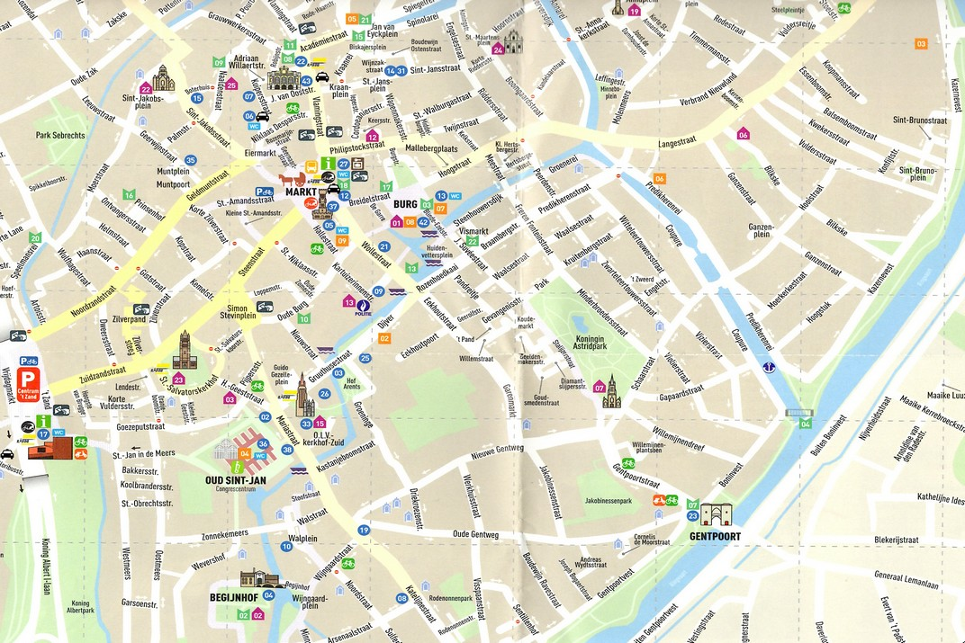 Plànol de Bruges