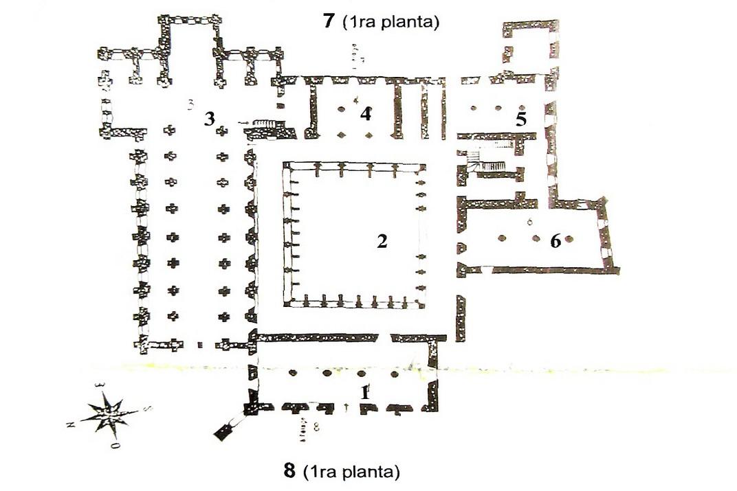 Plànol de l'abadia de Noirlac