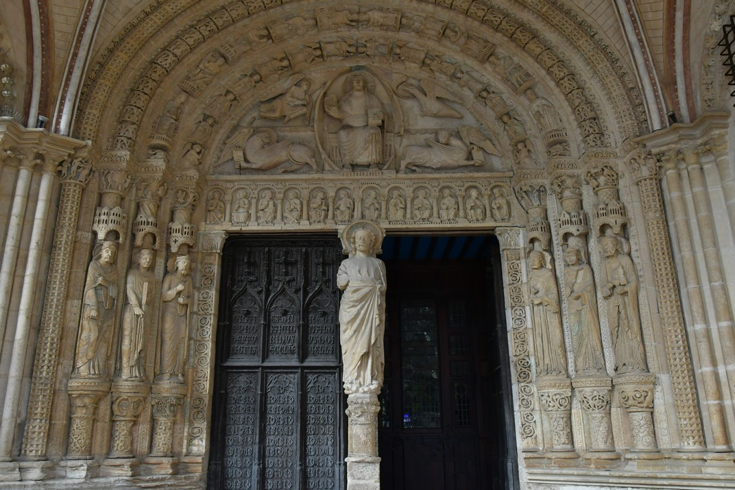 Pòrtic de la porta sud de la Catedral de Bourges