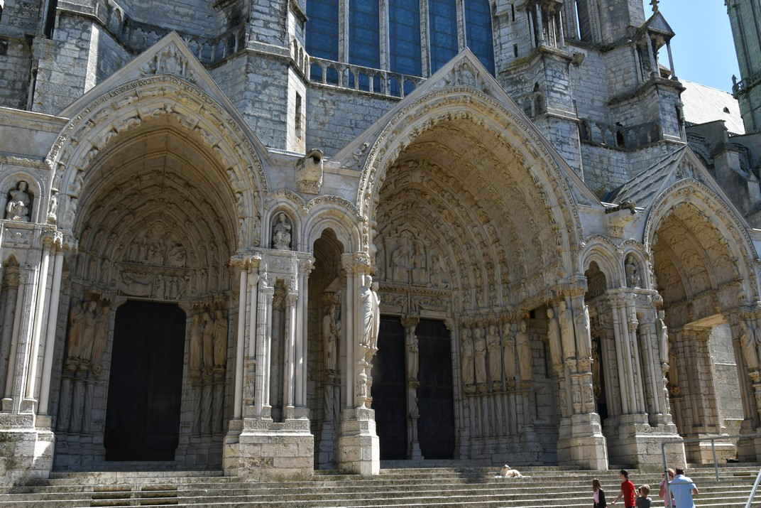 Pòrtic nord de la Catedral de Chartres
