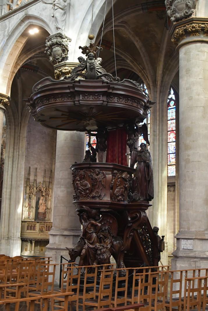 Púlpit de l'església de Nostra Senyora de les Victòries del Sablon de Brussel·les