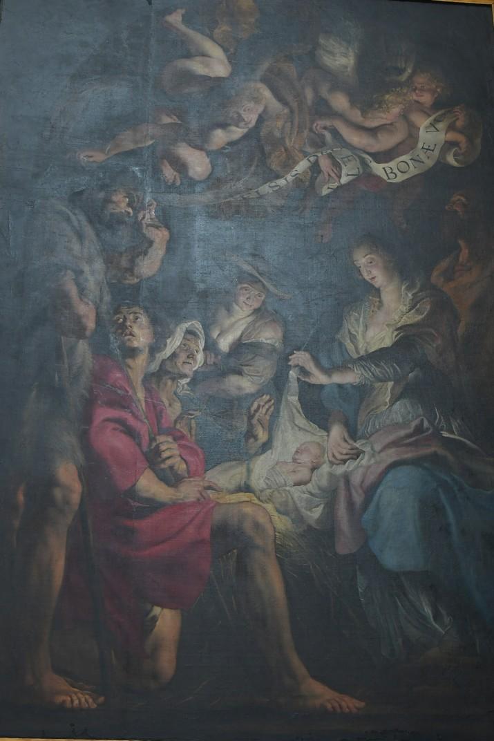 Quadre de la adoració dels pastors de Rubens de l'església de Sant Pau d'Anvers