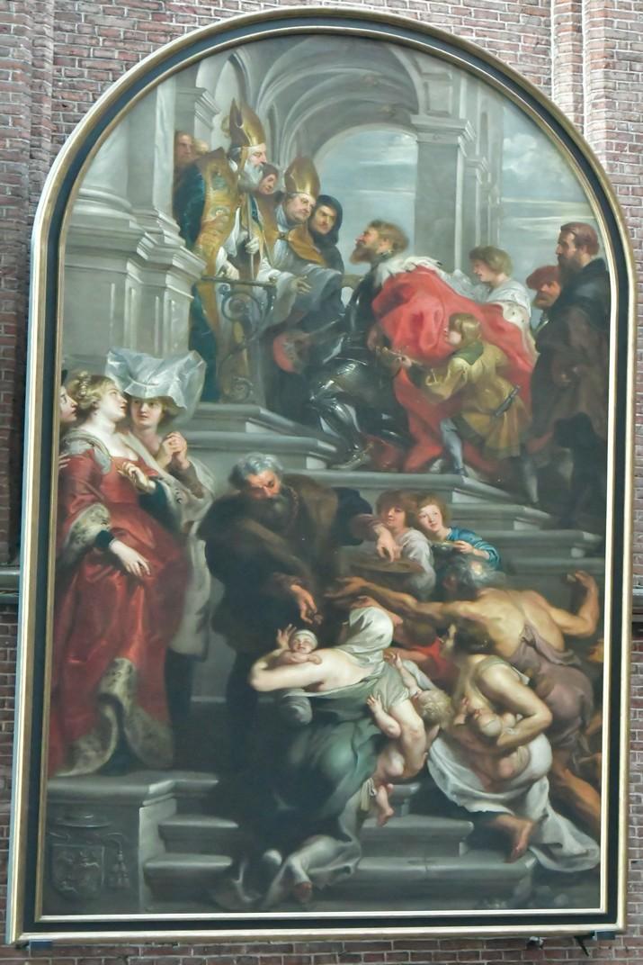Quadre de L'entrada de Bavó de Rubens de la Catedral de Gant
