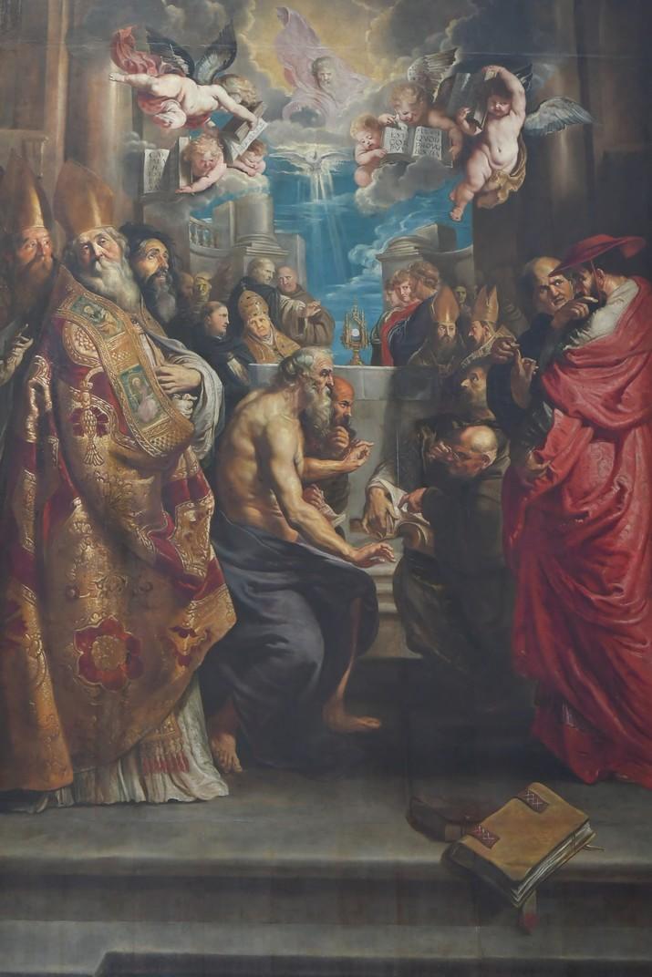 Quadre de l'exaltació del Sant Sagrament de Rubens de l'església de Sant Pau d'Anvers