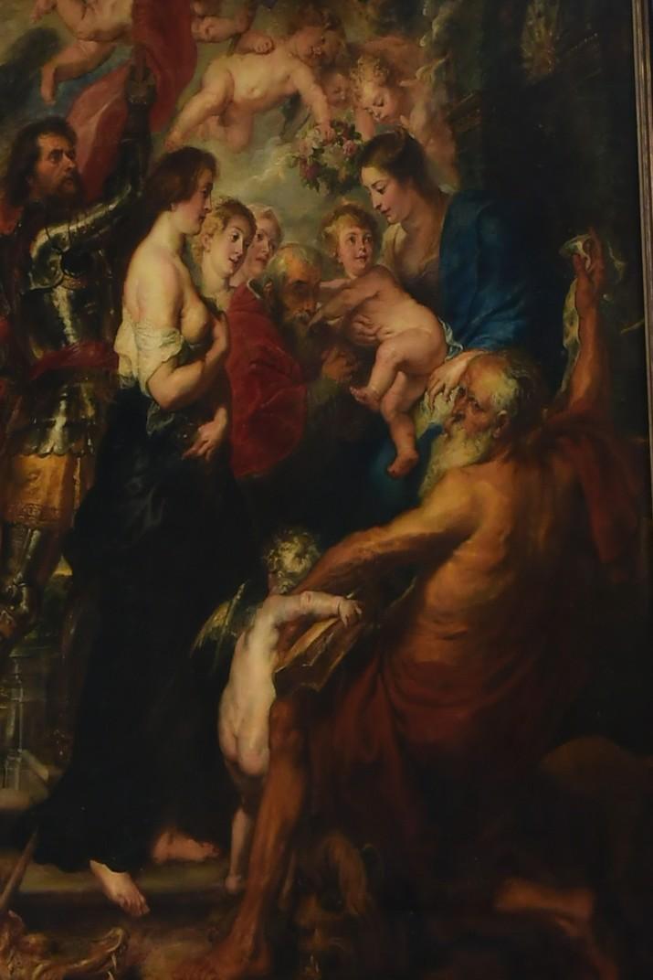 Quadre de Nostra Senyora envoltada de sants de Rubens de l'església de Sant Jaume d'Anvers