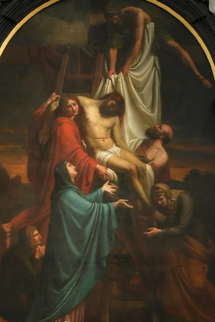 Quadre del descens de la Creu de Cornelius Cels de l'església de Sant Pau d'Anvers