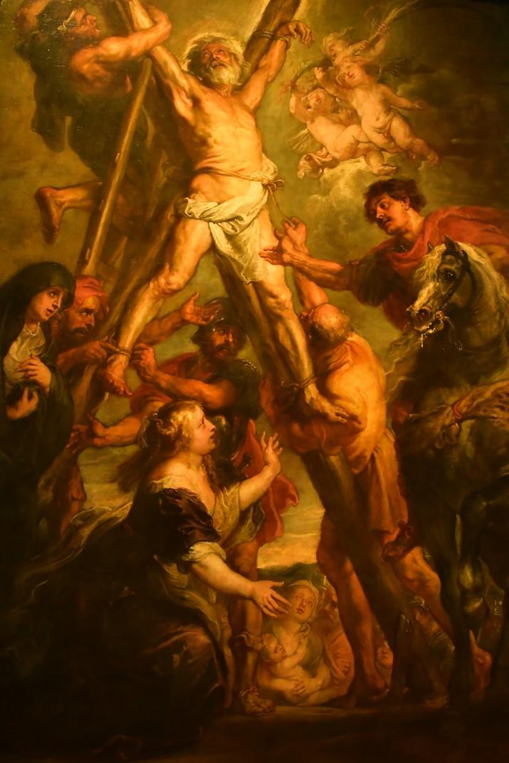 Quadre d'el martiri de Sant Andreu de la Casa de Rubens d'Anvers