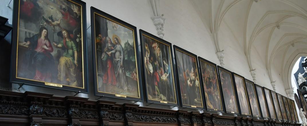 Quadres dels Misteris del Rosari de l'església de Sant Pau d'Anvers