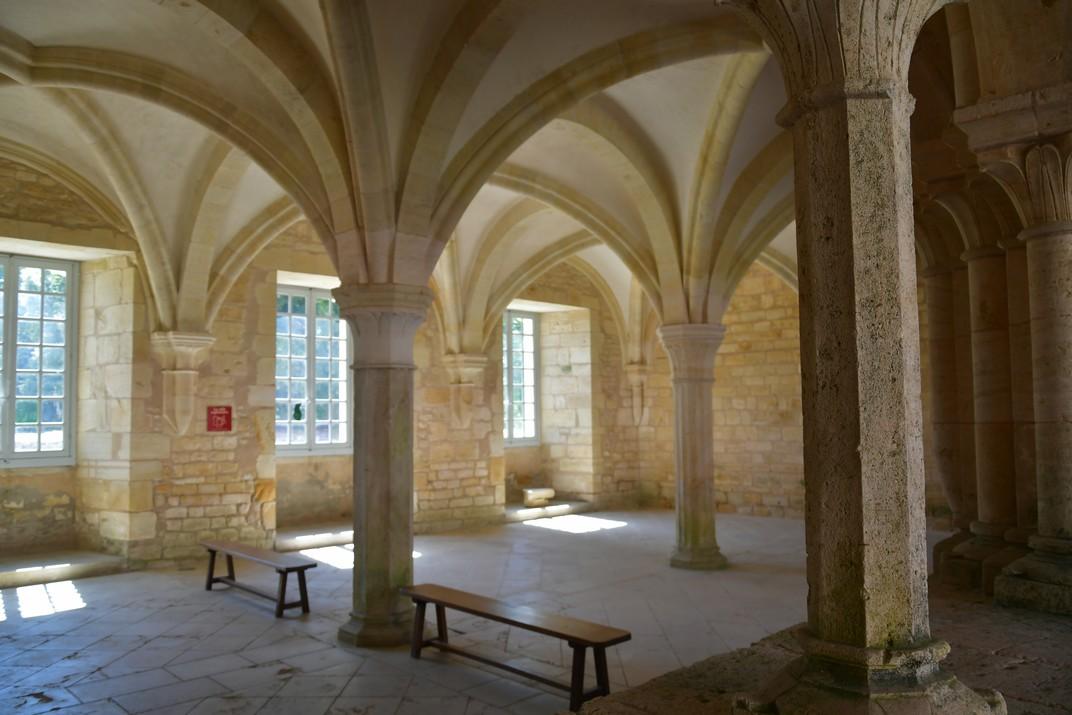 Sala Capitular de l'abadia de Noirlac