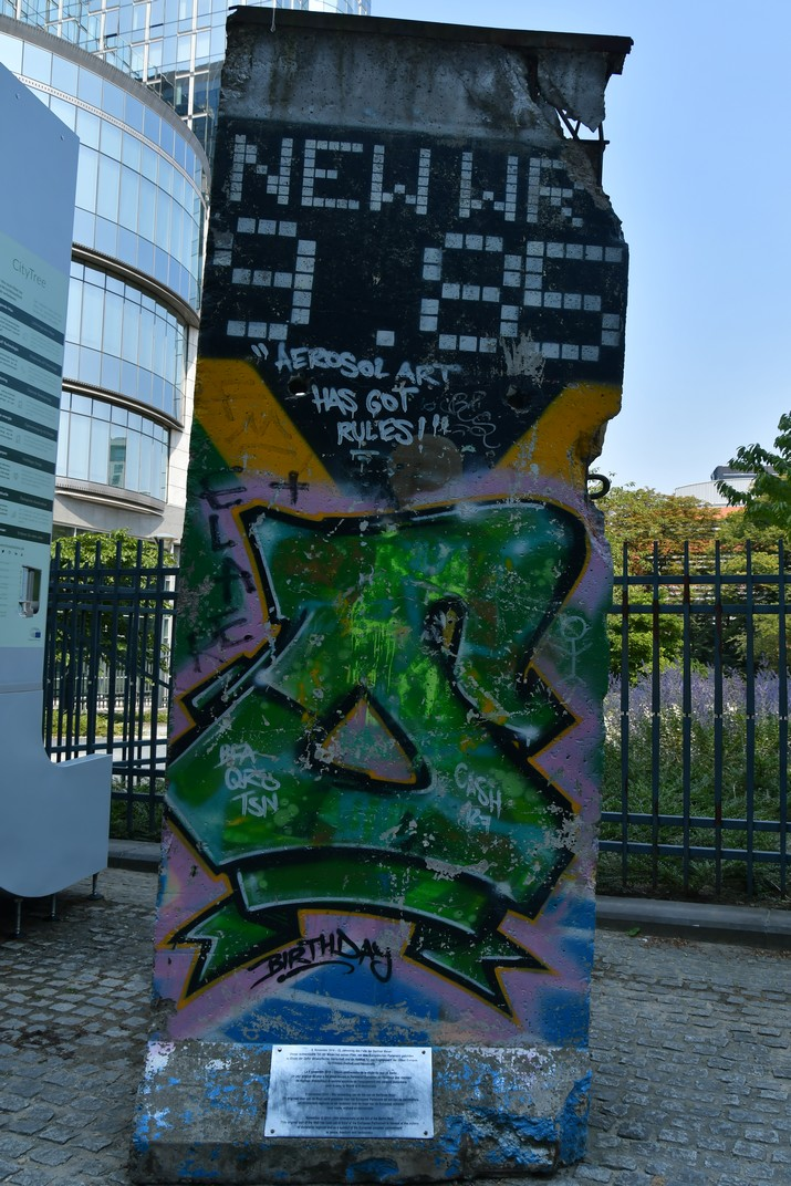 Secció del Mur de Berlín del Parlament Europeu de Brussel·les