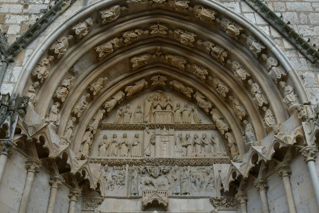Timpà de sant Ursí de la façana occidental de la Catedral de Bourges