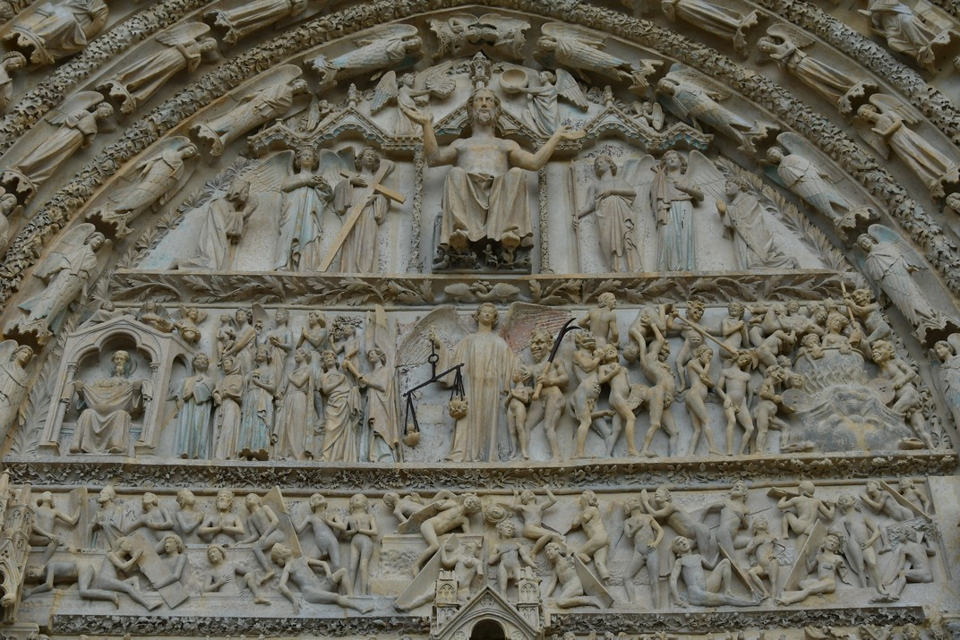 Timpà del Judici Final de la façana occidental de la Catedral de Bourges
