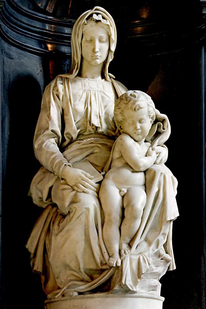 Verge amb el Nen de Miquel Àngel de l'església de Nostra Senyora de Bruges