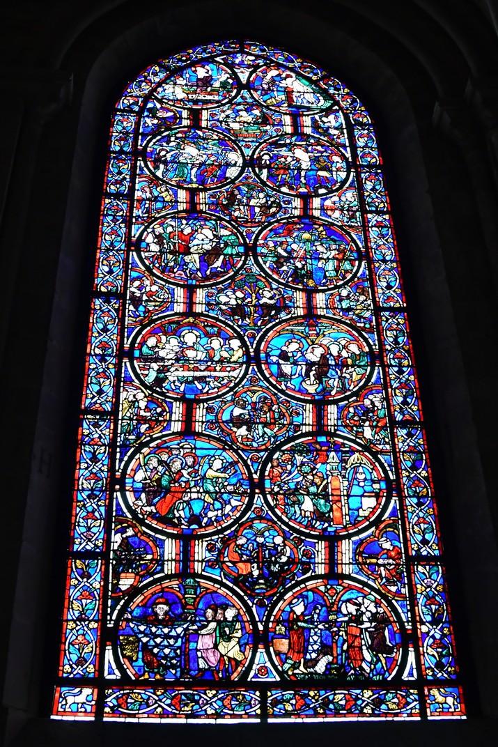 Vitrall de la girola de la Catedral de Bourges