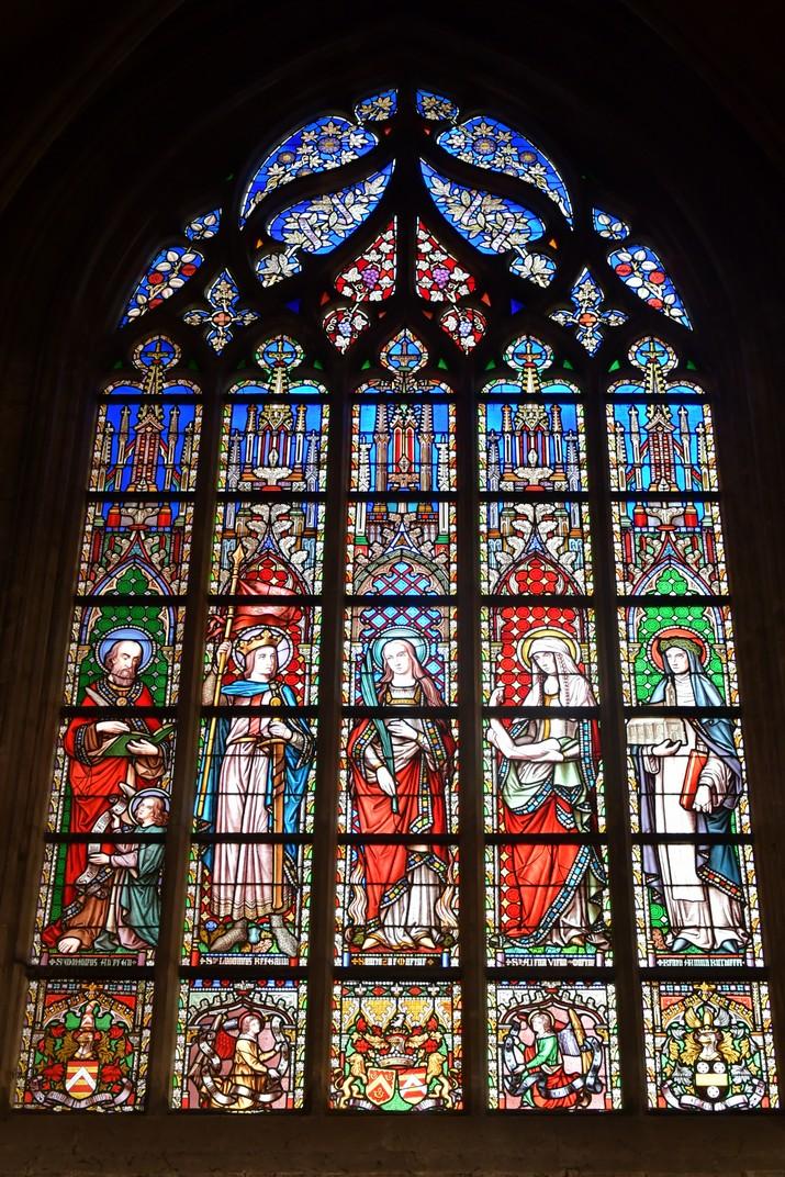 Vitrall de l'església de Nostra Senyora de les Victòries del Sablon de Brussel·les