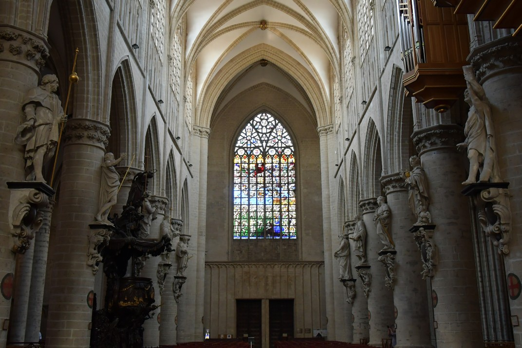 Vitrall del Judici Final de la Catedral de Brussel·les