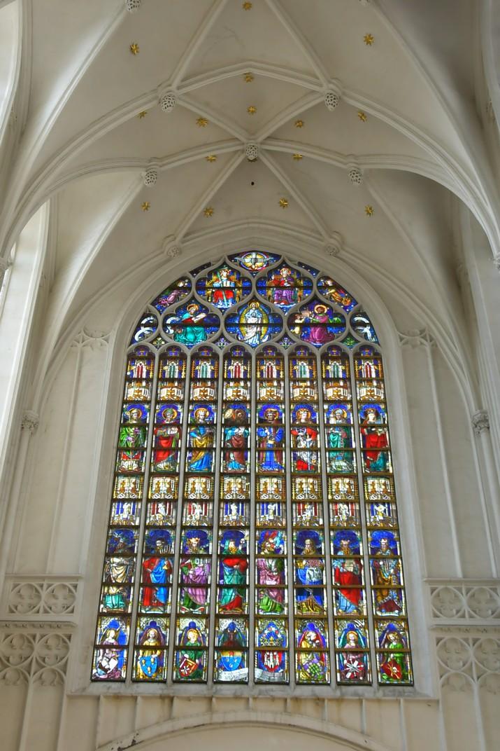 Vitrall del transsepte de la Catedral de Nostra Senyora d'Anvers