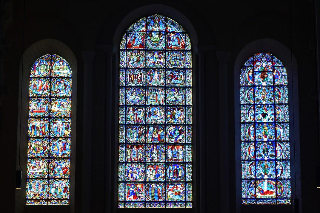 Vitralls de la façana oest de la Catedral de Chartres
