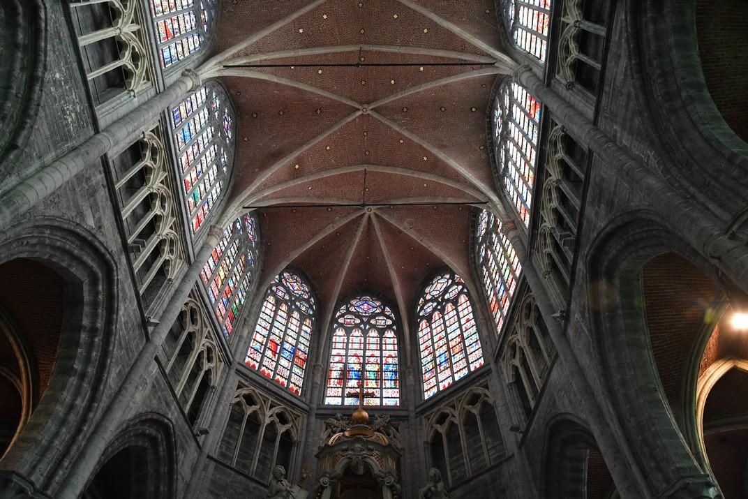 Vitralls superiors de la Catedral de Sant Bavó de Gant