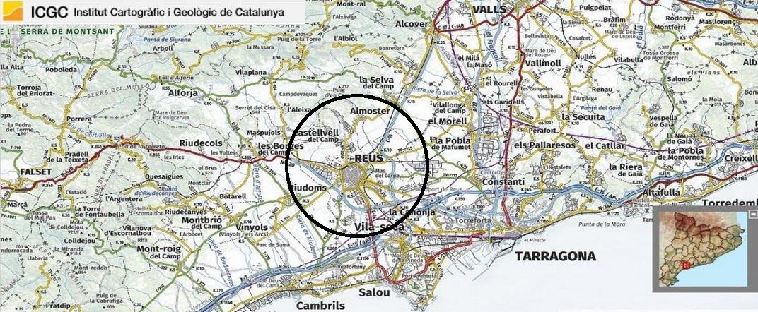 Mapa de localització de Reus