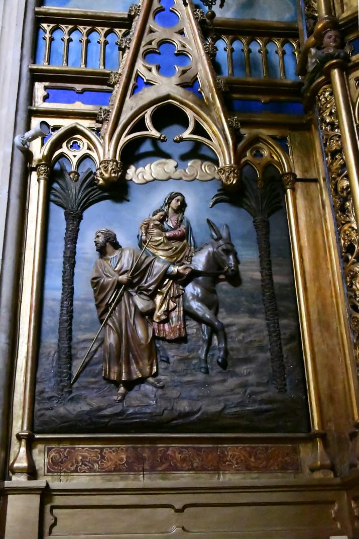 Retaule de la Fugida d'Egipte de l'església Prioral de Sant Pere de Reus