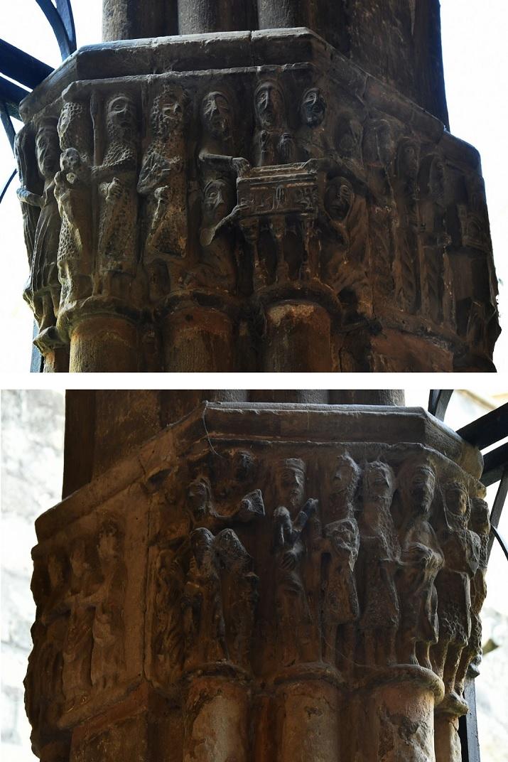 Capitells romànics del claustre de la Catedral de Santa Maria de Tortosa