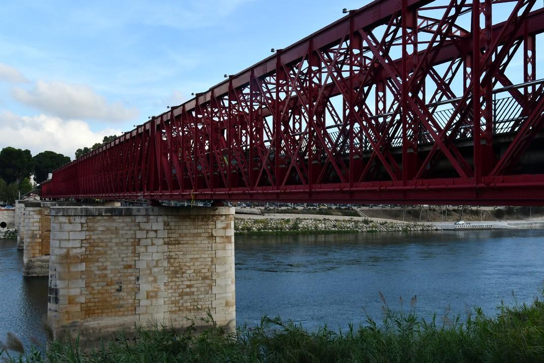 Estructura d'acer del pont del Ferrocarril de Tortosa
