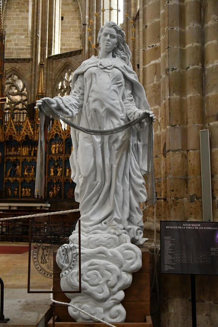 Imatge de la Mare de Déu de la Cinta de la Catedral de Santa Maria de Tortosa
