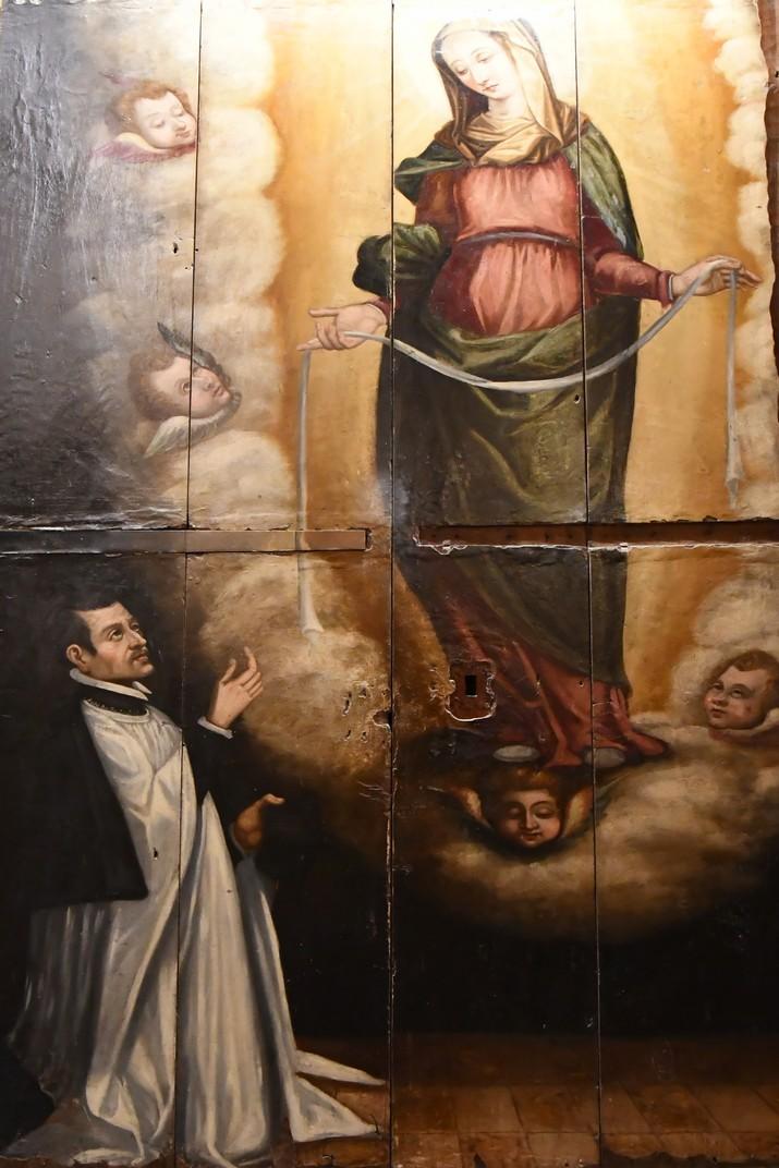 Pintura sobre fusta de l'exposició permanent de la Catedral de Santa Maria de Tortosa
